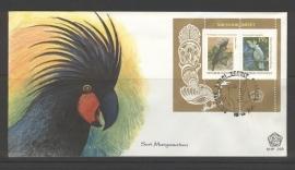 INDONESIË 1981 FDC 103-2 VOGELS