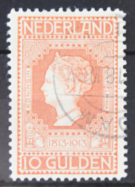 NEDERLAND 1913 NVPH 101 GESTEMPELD CERTIFICAAT ++ Q 268