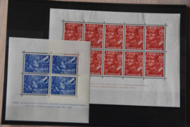 NEDERLAND 1942 NVPH 402-403 VELLEN PLAK(REST) ++ D(A) 129