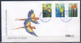 ARUBA 2010 FDC E 155 PAPEGAAI PARROT VOGELS BIRDS