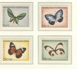 NIEUW GUINEA 1960 NVPH SERIE 63 VLINDERS BUTTERFLIES