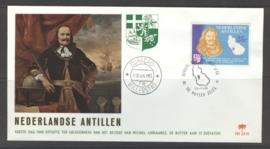 ANTILLEN 1966 FDC E042 MICHIEL DE RUYTER