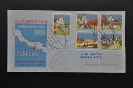 ANTILLEN 1958 FDC E10 GESLOTEN
