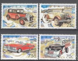 ARUBA 2001 NVPH SERIE 266 KLASSIEKE AUTO`S CARS
