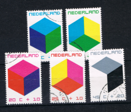 NEDERLAND 1970 NVPH 978-982 GEBRUIKT ++ L 593