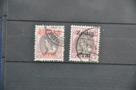 NEDERLAND 1919 NVPH 102-103 GESTEMPELD ++ O 070