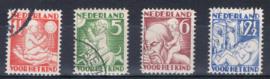 NEDERLAND 1930 NVPH 232-35 GEBRUIKT ++ A L 556-1