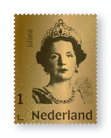 NEDERLAND GOUDEN ZEGEL JULIANA  LIMITED EDITION