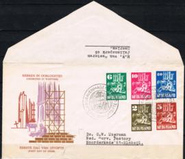 NEDERLAND 1950 FDC E2 OPEN KLEP