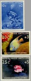 ANTILLEN 1960 NVPH SERIE 315 KANKERBESTRIJDING VIS FISH