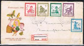 NEDERLAND 1950 FDC E4 KIND LEES