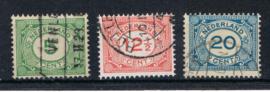 NEDERLAND 1921 NVPH 107-109 GESTEMPELD ++ L 535-3