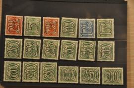 NEDERLAND 1940 NVPH 356-73 PLAK(REST) ++ P 125