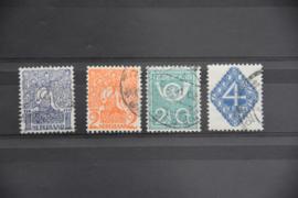 NEDERLAND 1923 NVPH 110-13 GESTEMPELD ++ A 456