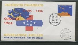 ANTILLEN 1964 FDC E032 CARIBISCHE RAAD