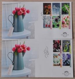 NEDERLAND NVPH FDC E 655 AB BLOEMEN FLOWERS