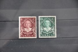 CURAÇAO 1948 NVPH 198-199 POSTFRIS ++ R 119