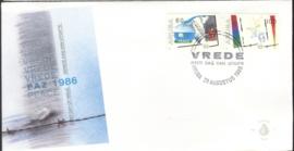 ARUBA 1986 FDC E 005 VREDE