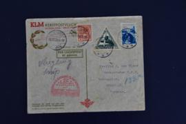LUCHTPOST MET KLM NAAR CURACAO MET BESCHRIJVING