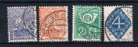 NEDERLAND 1923 NVPH 110-113 GESTEMPELD ++ L 536
