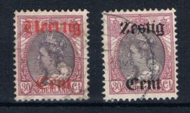 NEDERLAND 1919 NVPH 102-103 GESTEMPELD ++ L 533-1