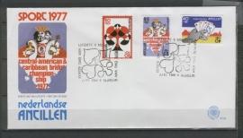 ANTILLEN 1977 FDC E102 BRIDGE KAARTEN