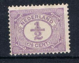 NEDERLAND 1899 NVPH 50 PLAK(REST) ++ K 132