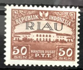 RIAU 1954 ZBL 11  POSTFRIS