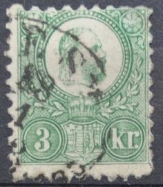 HONGARIJE 1871 MCHL 2 GEBRUIKT ++ L 98