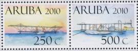 ARUBA 2010 NVPH SERIE 438 VLIEGTUIG AIRPLANE