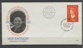 ANTILLEN 1965 FDC E034 PRINSES BEATRIX