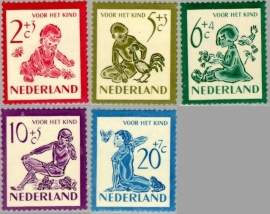NEDERLAND 1950 NVPH SERIE 563 KIND CHILD