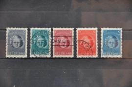 NEDERLAND 1945 NVPH 444-48 GEBRUIKT ++ J 68