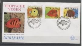 REP. SURINAME ZBL FDC E005B VISSEN FISHES