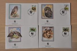 205 ++ FDC WWF WNF WERELD NATUUR FONDS ++ ARUBA UIL OWL VOGEL BIRD