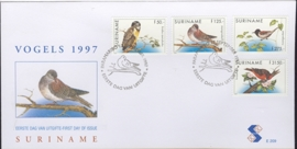 REP. SURINAME ZBL FDC E E209 VOGELS BIRDS