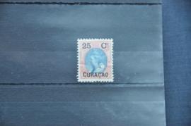 CURAÇAO 1901 NVPH 27 PLAK(REST) ++ Q 241