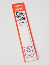 DAVO NERO STROKEN MOUNTS N20 (215 x 24) 25 STK/PCS