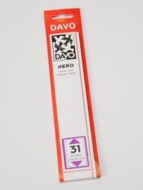 DAVO NERO STROKEN MOUNTS N31 (215 x 35) 25 STK/PCS