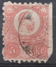 HONGARIJE 1871 MCHL 3(4) GEBRUIKT ++ L 98
