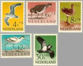 NEDERLAND 1961 NVPH SERIE 752 VOGELS BIRDS