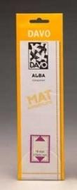 DAVO ALBA STROKEN MOUNTS A20 (215 x 24) 25 STK/PCS