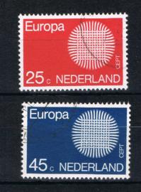 NEDERLAND 1970 NVPH 971-972 GEBRUIKT ++ L 591