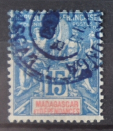 P 250 ++ MADAGASCAR 1896 CANCELLED USED