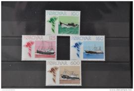 FAROËR 1977 MICHEL SERIE 24 SHIPS SCHEPEN ++ J 104