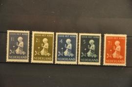 NEDERLAND 1940 NVPH 374-78 PLAK(REST) ++ P 128
