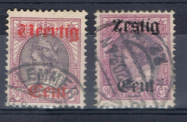 NEDERLAND 1919 NVPH 102-103 GESTEMPELD ++ A 519