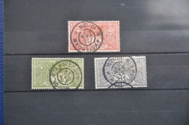 NEDERLAND 1906 NVPH 84-86 GESTEMPELD ++ O 064