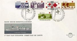 NEDERLAND 1963 FDC E58 OPEN KLEP ++ VOORBEELD SCAN