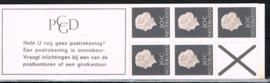 POSTZEGELBOEKJE PZB PB 6d TELBLOK POSTFRIS ++ D 215